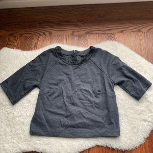 BANANA REPUBLIC Denim Blue Black Piped Knit Top